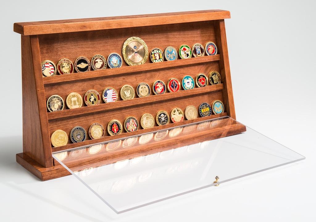 Case Design dust proof phone case : Medium Cherry Challenge Coin Displays