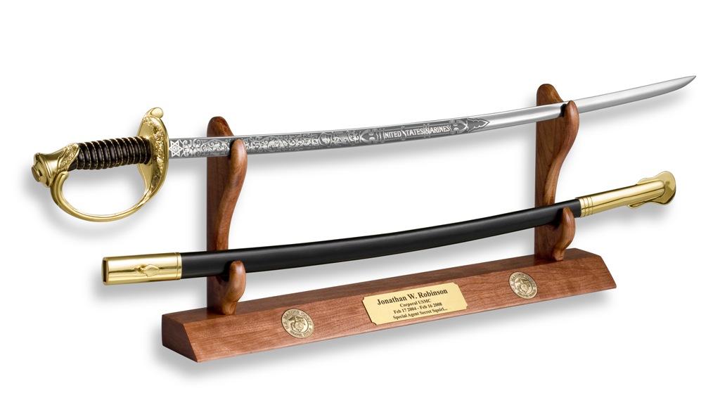 Military Swords, Military Sword displays, Navy Cutlas Display