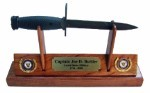 Navy M7 Bayonet/Knife Letter Opener Display