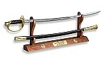 CHERRY SWORD AND CUTLASS DISPLAY- FOR DESK, SHELF, OR MANTLE