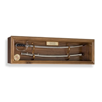 Walnut  Sword Display Case