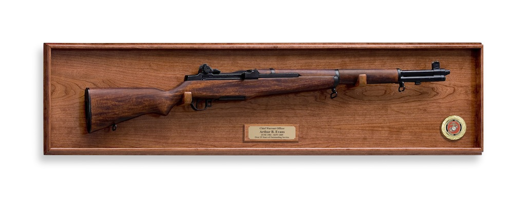 M1 Garand And Hardwood Display Wall Plaque