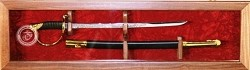 18 inch  Cherry USMC NCO  Sword Display Case