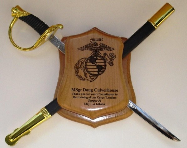 "Beach 18""  Marine NCO Display Shield"