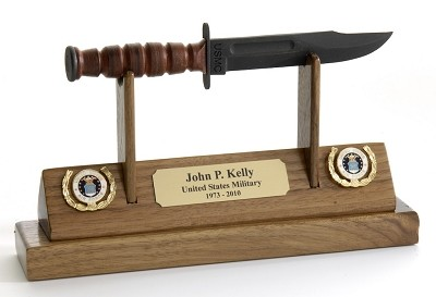 Air Force KaBar Knife Letter Opener Display