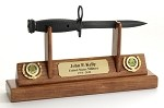 Army  M7 Bayonet/Knife Letter Opener Display
