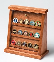 Medium Cherry Challenge Coin Displays