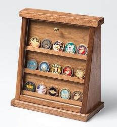 Medium Walnut Challenge Coin Displays