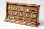 Large Walnut Challenge Coin Displays