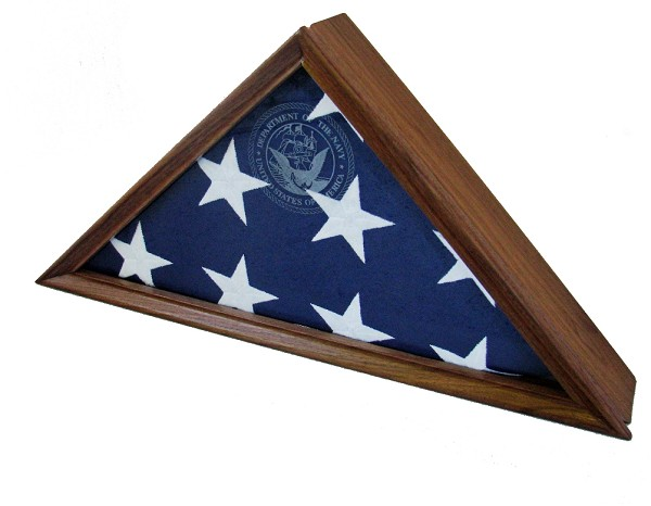 "Walnut Flag Display Case for a  5' x 9'.5"" Flag"