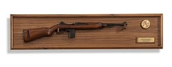 M1 Carbine and Hardwood Display Wall Plaque