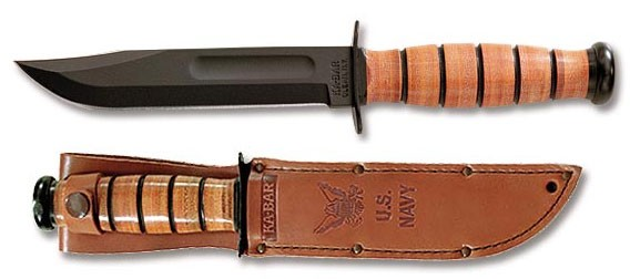Full-size US NAVY KA-BAR, Straight Edge