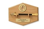 Army NCO Sword Letter Opener and Display Plaque