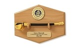 Navy CPO Cutlass Letter Opener and Display Plaque