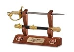 Coast Guard Sword Letter Opener and Display