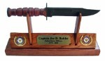 Navy KaBar Knife Letter Opener Display