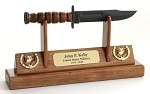 USMC KaBar Knife Letter Opener Display