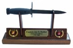 USMC  M7 Bayonet/Knife Letter Opener Display